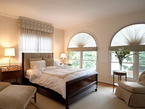 The Windows D Art Deco Influenced Curved Semicircle Bedroom