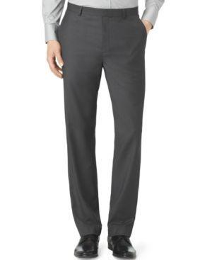 Calvin Klein Men's Slim Fit Dress Pants - Gray 29x30
