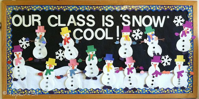 'Our class is snow cool' - snowman display for January by swimmor, via Flickr