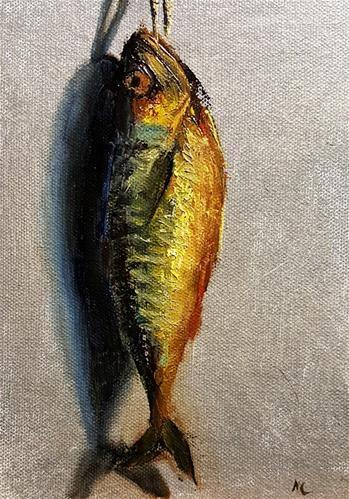 "Daily Paintworks - ""Hot smoked Mackerel"" - Original Fine Art for Sale - © Natalia Clarke"