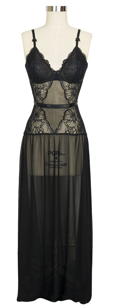 The Jolie Long Gown by NK iMode is the luxurious lingerie you've been looking for!