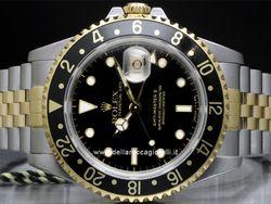 Rolex - GMT Master II 16713 Cassa: acciaio/oro - 40 mm Ghiera: nera Vetro: zaffiro Colore quadrante: nero Bracciale: acciaio/oro Chiusura: deployant Movimento: automatico