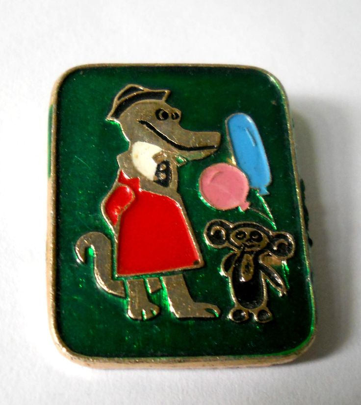 Gena Crocodile and Cheburashka Badge, Old Pin, Vintage USSR Rare Soviet metal collectible Pins by LucyMarket on Etsy