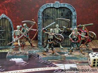 Servi del Male - Dungeon saga painted miniatures ~ Enionline Alternative Worlds #28mm #fantasy #skeleton #miniature #painting