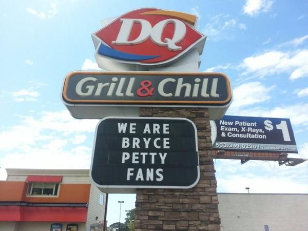 A Salem, Oregon, Dairy Queen Gives Shout Out To #Baylor's Bryce Petty, Proves Art Briles Right // If you haven't followed this story, you owe it to yourself to read this. #BaylorEverywhereDairy Queen
