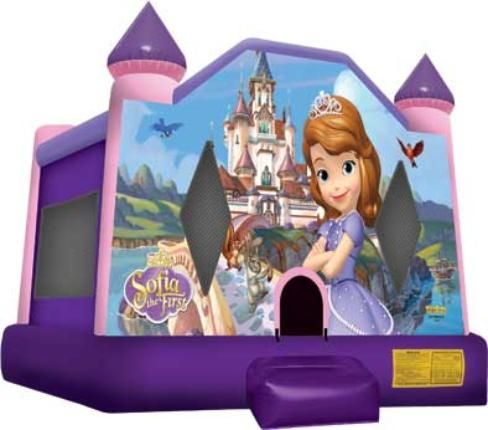 Sofia the First Bounce House for Princess Birthday Party