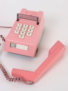 1982 vintage pink Trimphone I used to have a PINK PRINCESS PHONE