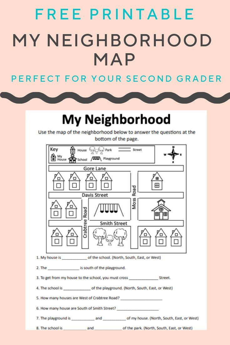 Help Your Child Build Map Skills And Understand North South East And West With This Free Worksheet Map Social Studies Worksheets Map Skills Map Worksheets