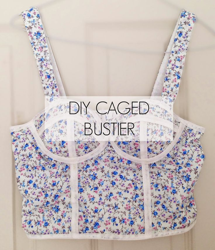 DIY Caged Bustier Top Using a Bra- Inspired by Triangl   Handmade with Paige
