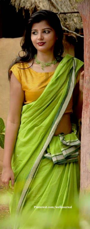 Cotton handloom saree from Gaatha. Gaatha.com