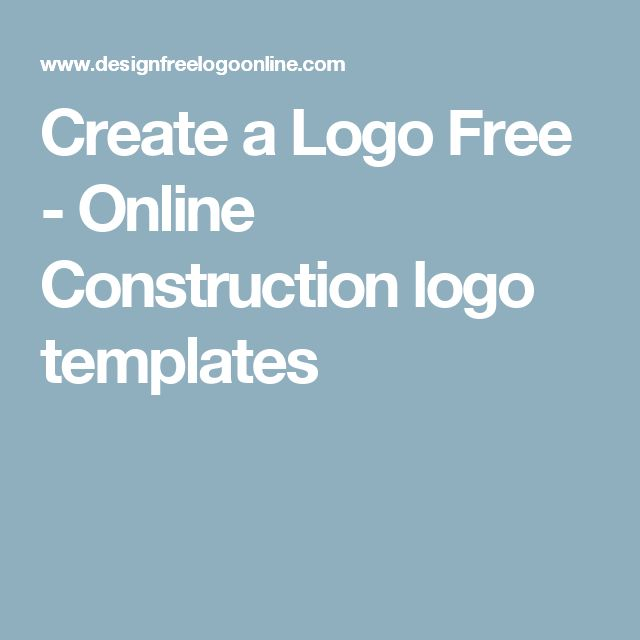 Create a Logo Free - Online Construction logo templates