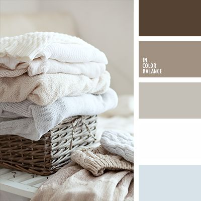 Delicate pastel shades of brown are ideal for bedrooms. They will be good for bedding and for textiles in the whole house. As well, this palette is suitable for kitchen design and living.