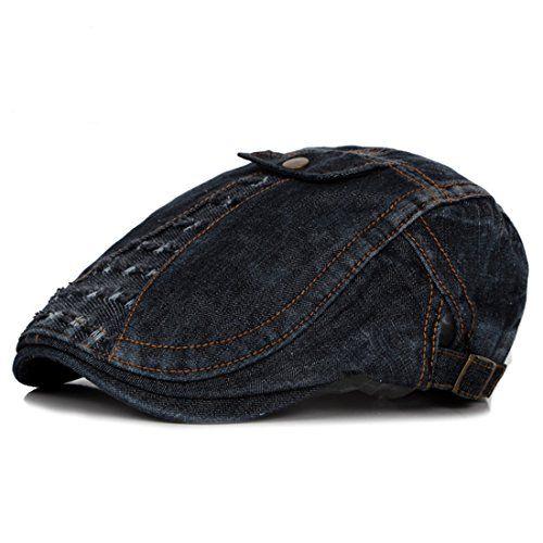 4e7a1c93 $10.99 CBriskaari Men's Denim Flat Cap Gatsby newsboy IVY Hats Cabbie  Driving Cap