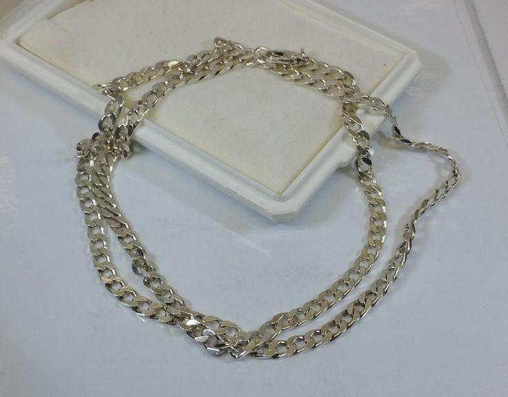 Vintage Halsschmuck - Panzerkette Halskette Silber 925 Länge 56 cm SK942 - ein Designerstück von Atelier-Regina bei DaWanda