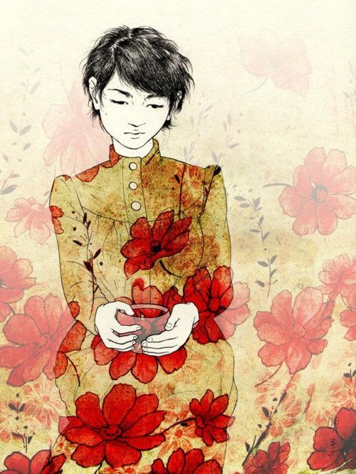 Sitting With Tea, Stasia Burrington