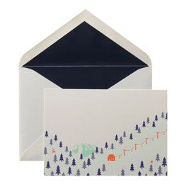 カード・封筒セット 雪山|ウイングド・ウィール