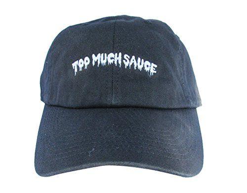 65253bd5daf5e ... too much sauce custom emoji meme unstructured twill cotton low profile dad  hat cap ...