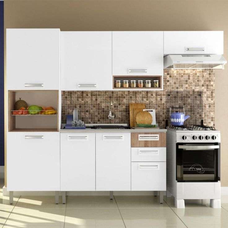 17 melhores ideias sobre Armário De Cozinha Itatiaia no Pinterest  Cozinha p # Armario De Cozinha Bianca Bartira