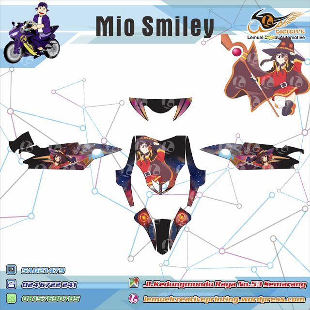 Custom Striping Motor Full Body Yamaha Mio Smiley Thema Megumin  Kono Subarashii Berkualitas Dengan Desainmu Sendiri by DIGITIVE