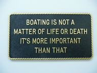 Fun Plaques Gift Sign Display Boat Owner (boating in not a matter etc) fp47