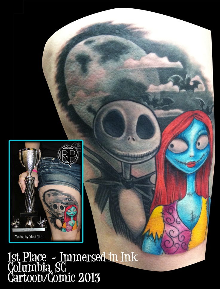 Jack and Sally Tattoo - Nightmare Before Christmas  - 1st Place - by Matt Skin