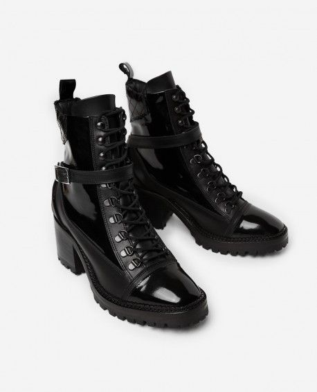 0d352b3b229 Black leather lace-up boots - THE KOOPLES | wl // style | Leather ...