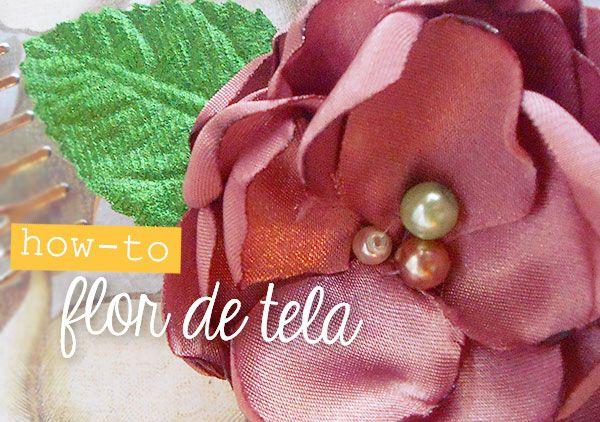 """""""Cómo hacer flores de tela"""" con Estefanía García. http://www.craftingeek.me/2013/09/como-hacer-flores-de-tela-con-estefania.html #Boutique #Flowers"""