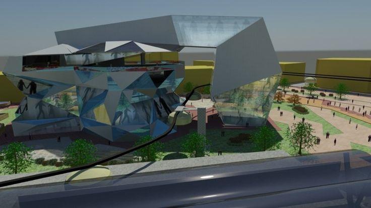 """""""Centro de Memoria de Sensibilización Ciudadana"""" Equipamiento-hito (ciudad del futuro 2050)"""