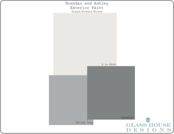 Brendan and Ashley-Exterior Paint- Grays:Greens:Blues