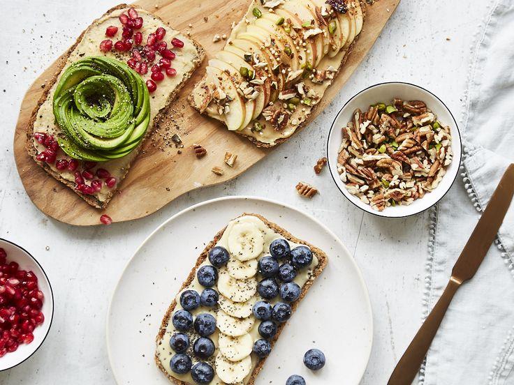 Dreierlei vegane Frühstücksschnitten