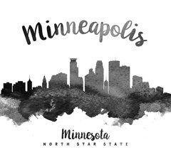 Minneapolis Prints - Minneapolis Minnesota Skyline 18 Prints by Aged Pixel