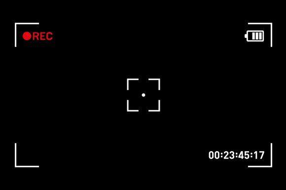 Camera Recording Viewfinder Youtube Logo Overlays Transparent Editing Background