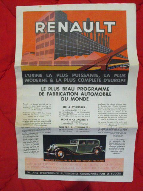 L'année Renault 1932. Rare journal  automobile, camion, car, aviation, agricole