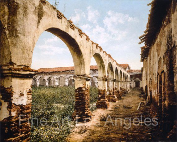 William Henry Jackson Photo Mission San Juan Capistrano