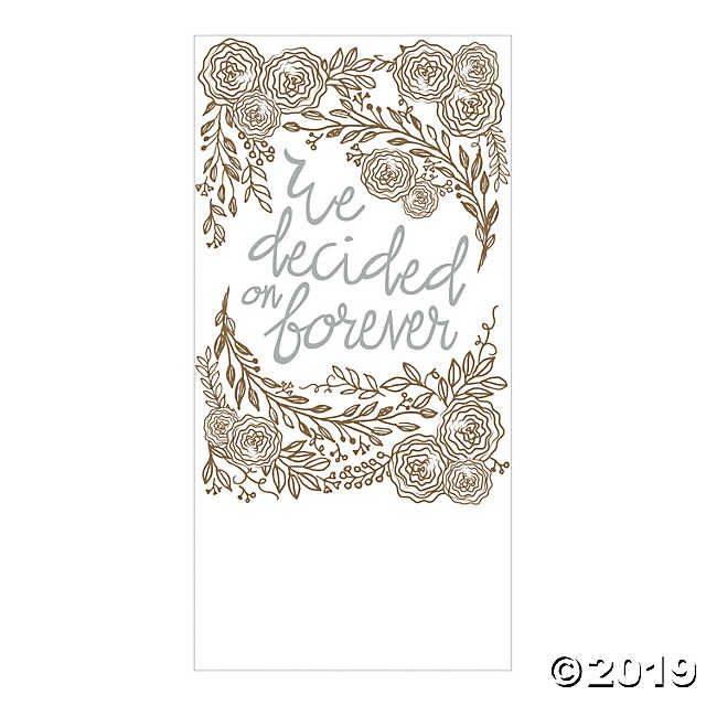 Create A Touching Atmosphere At Your Wedding With The Help Of This Elegant Banner Featuring A Vintage Design Of Banner Backdrop Vinyl Banners Elegant Banners