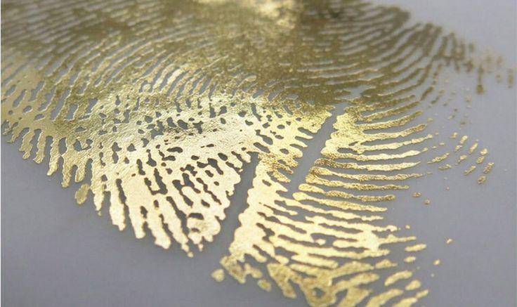 fingerprint in gold