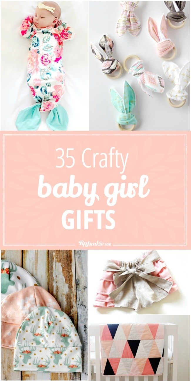35 Crafty Baby Girl Gifts to Make | Diy baby gifts ...