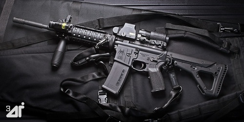 Spikes Tactical Build w/ Magpul EMAG & EOTech Sights. Brugger & Thomet Vertical Grip & Streamlight TLR-2