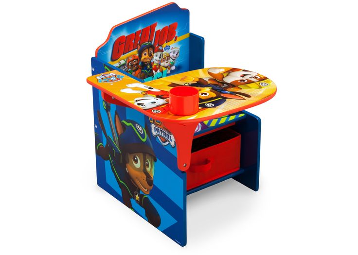 Paw Patrol Chair Desk With Storage Bin Toddler Desk