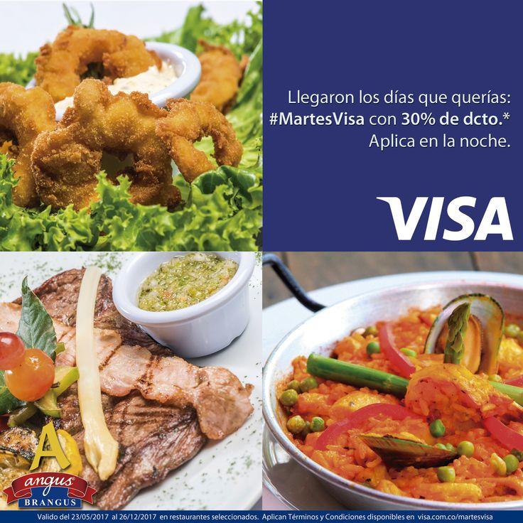 Esta noche es ideal para visitar el restaurante Angus Brangus Parrilla Bar  y disfrutar la gastronomía internacional con 30% de dcto. gracias a #MartesVisa . Válido de 7:00 a 12:00 P.M.   Revisa las condiciones y restricciones en: http://www.angusbrangus.com.co/alianzasydescuentos/  Reservas: 2321632 - 310 7006602. Cra. 42 # 34 - 15 / Vía las Palmas.  #restaurantesmedellín #AngusBrangus #medellín #langostinos #ofertaespecial #gastronomía #medellíntown #medellíncity #medellínsisabe #poblado