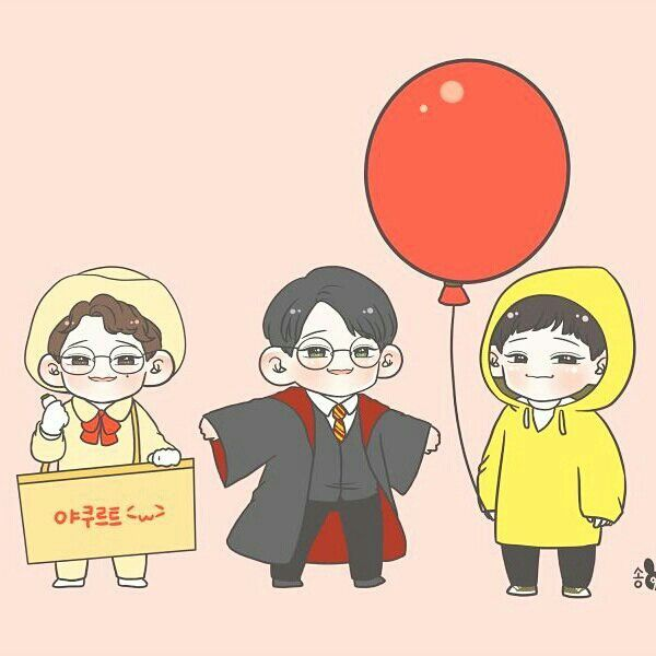 Chen Exo Halloween drawing
