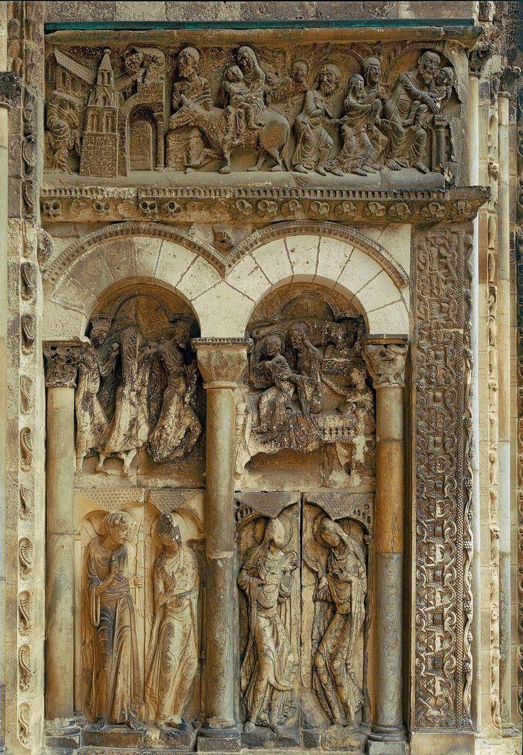 De oostzijde van het zuidelijk portaal ~ St. Pierre, Moissac ~ Begin 12e eeuw