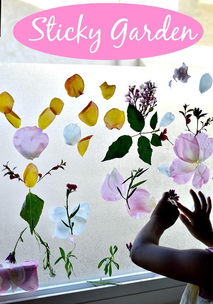 Sticky Garden : Spring Activities for Kids #springactivitiesforkids