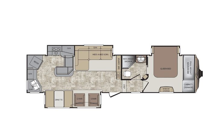 Th Wheel Rear Kitchen Floor Plan