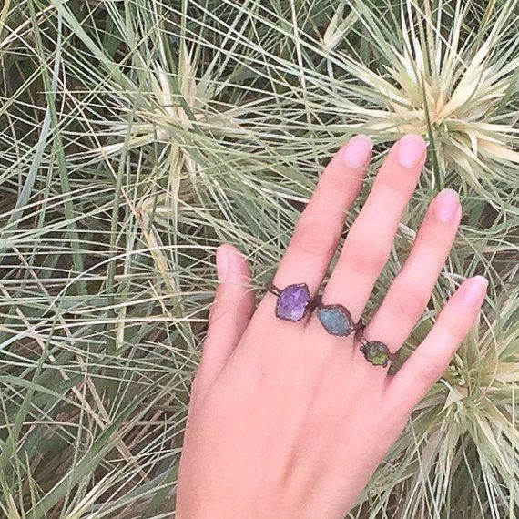 Blue apatite choose your size ring by TheIndigoStudioCo on Etsy