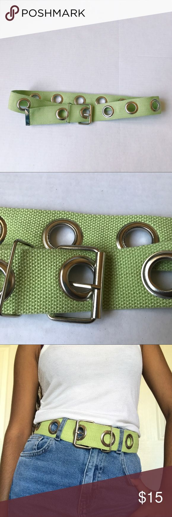 GREEN BELT cute green belt that will fit any size. in perfect condition. not unif, just for exposure UNIF Accessories Belts