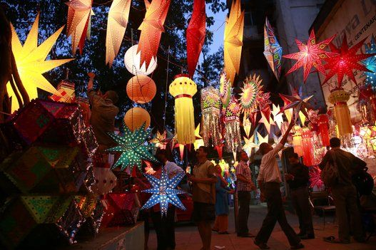 Lanterns and lamps for Diwali, Celebrating The Festival Of Lights