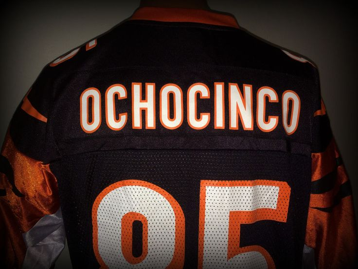CINCINNATI BENGALS CHAD OCHOCINCO JOHNSON REEBOK ADULT LARGE  REPLICA JERSEY #CincinnatiBengals