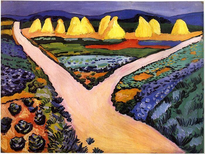 アウグスト・マッケ『野菜畑』(1911) August Macke - Gemüsefelder  #表現主義 #ブリュッケ