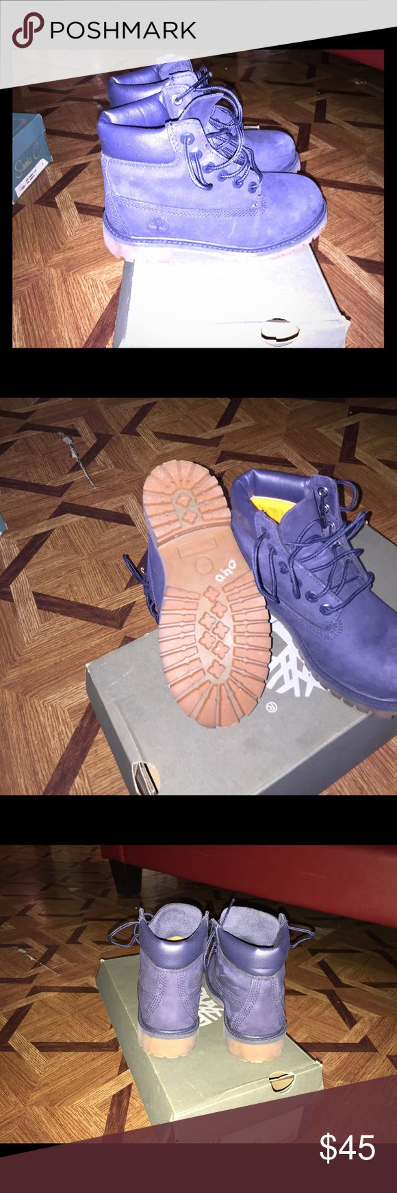 Timberland boots for kids Navy color timberland great for girls and boys didn't fit my daughter Timberland Shoes Boots